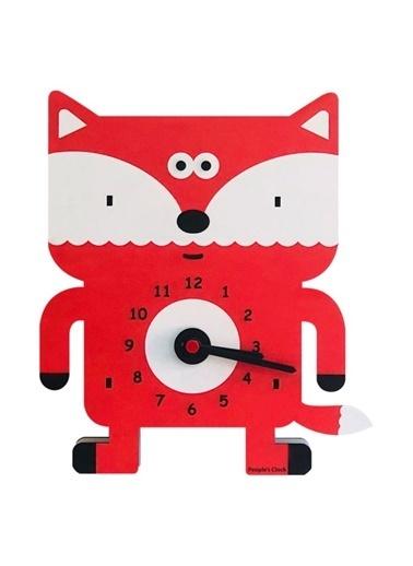 Peoples Clock Tilki Özel Tasarım Duvar Saati Renkli